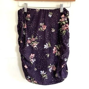 Stitch Fix Ember Brushed Knit Skirt Floral Small